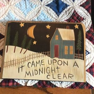 "Other - ""It Came Upon A Midnight Clear"" Wall Hanging"